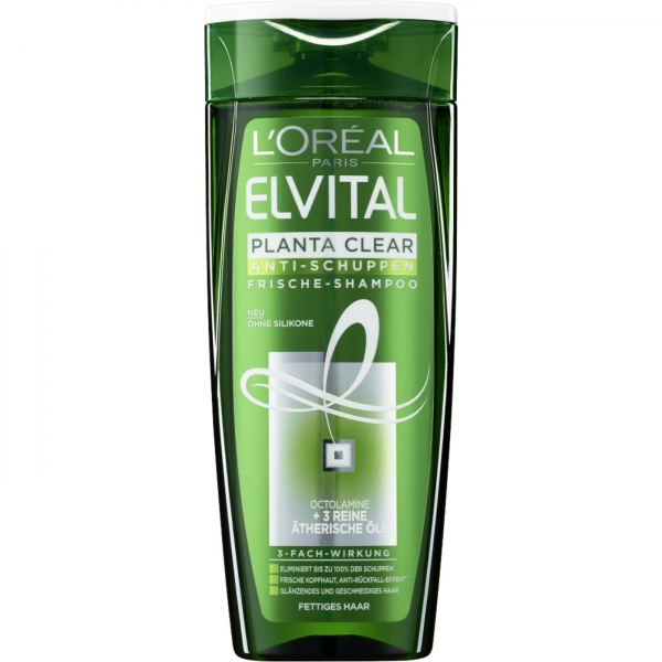 LOreal Elseve Sampon anti-matreata, 400 ml, 2 in 1 Planta Clear pentru par gras 0