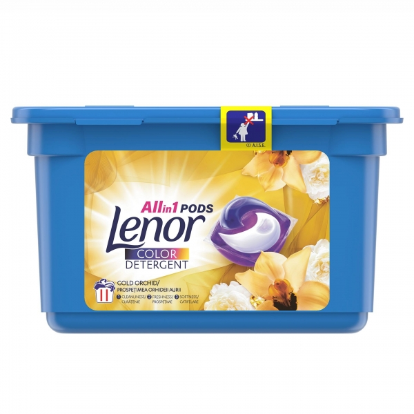 Lenor Detergent Capsule All in 1 PODS, 11 buc, Color Gold Orchid 0