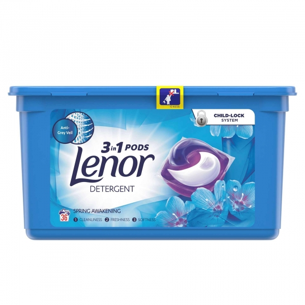 Lenor Detergent Capsule All in 1 PODS, 36 buc, Spring Awakening 0
