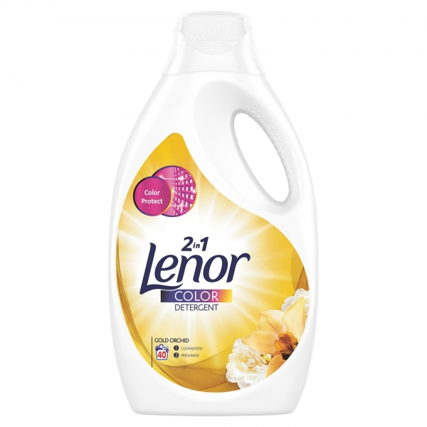 Lenor Detergent lichid, 2.2 L, 40 spalari, Color Gold Orchid 0