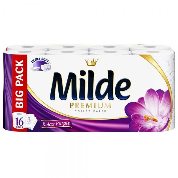 Milde Relax Purple Hartie igienica, 3 straturi, 16 role 0