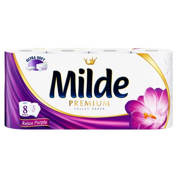 Milde Relax Purple Hartie igienica, 3 straturi, 8 role 0