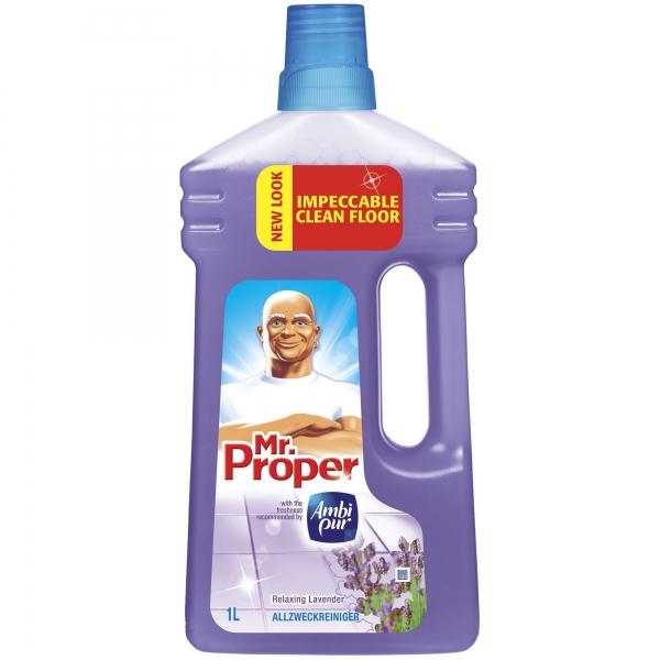 Mr. Proper Detergent pardoseli, 1 L, Lavanda 0