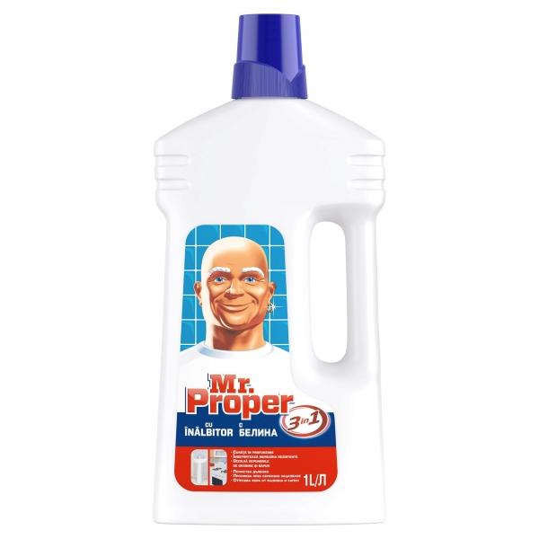 Mr. Proper Detergent universal, 1 L, 3in1 Gel cu inalbitor 0