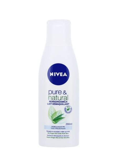 Nivea Lapte demachiant, 200 ml, Pure & Natural 0