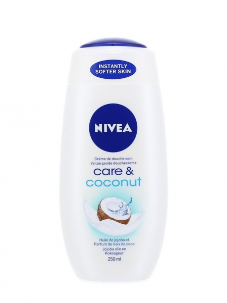 Nivea Gel de dus, 250 ml, Care & Coconut 0