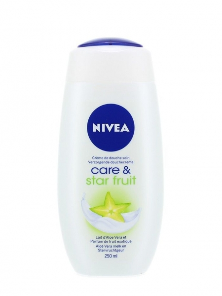 Nivea Gel de dus, 250 ml, Care & Star Fruit 0