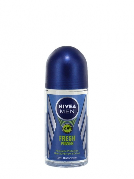 Nivea Deodorant Roll-on, Barbati, 50 ml, Fresh Power 0