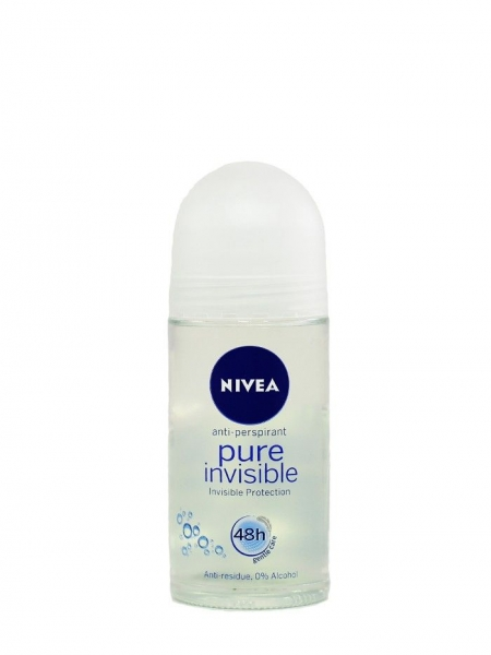 Nivea Deodorant Roll-on, Femei, 50 ml, Pure Invisible 0