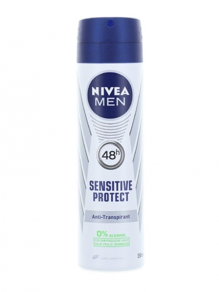 Nivea Deodorant spray, Barbati, 150 ml, Sensitive Protect 0