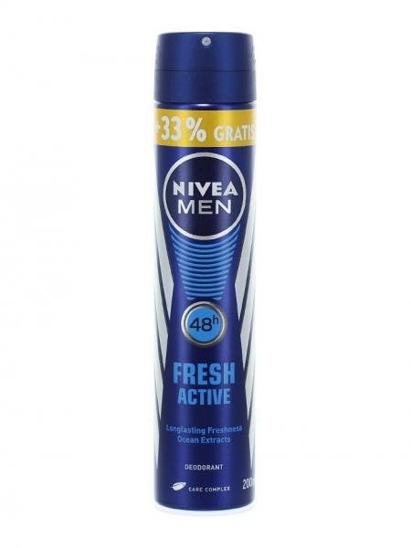Nivea Deodorant spray, Barbati, 200 ml, Fresh Active 0