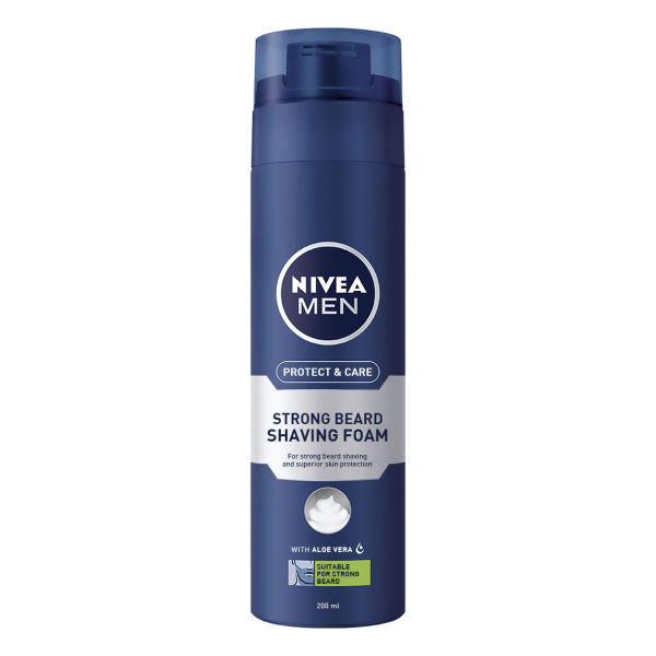 Nivea Spuma de ras, 200 ml, Protect and Care pentru barba aspra 0
