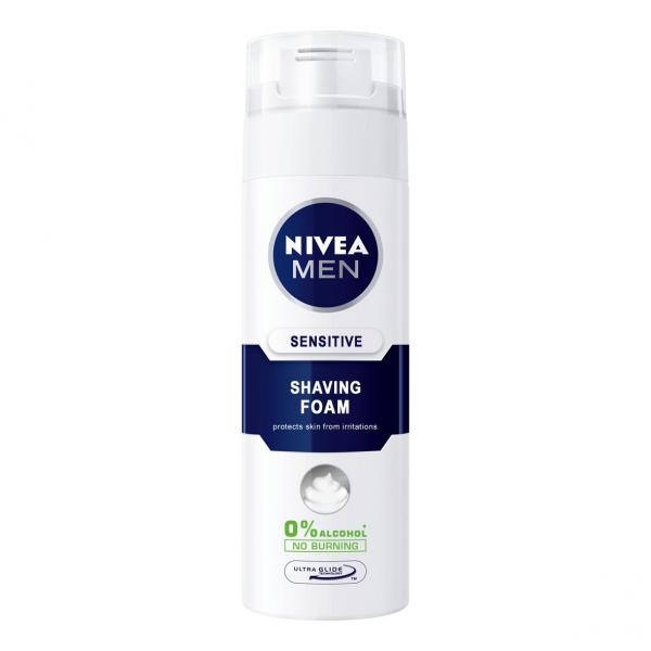 Nivea Spuma de ras, 200 ml, Sensitive 0