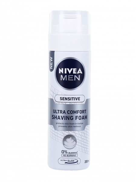 Nivea Spuma de ras, 200 ml, Sensitive Ultra Comfort 0
