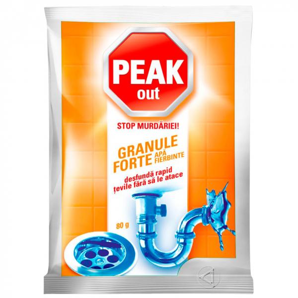Peak Out Granule desfundat tevi, apa fierbinte, 80 g 0