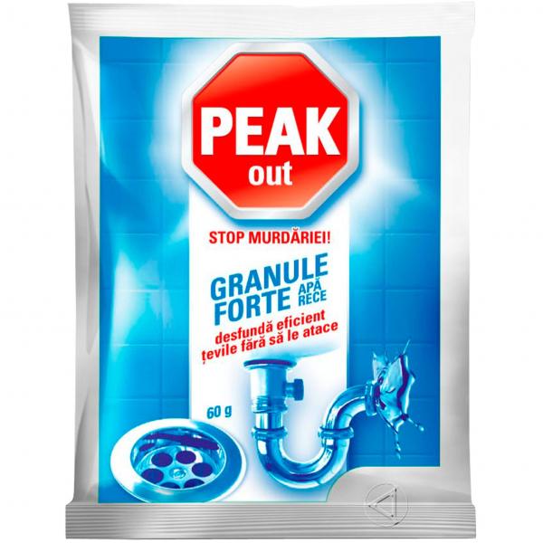Peak Out Granule desfundat tevi, apa rece, 60 g 0