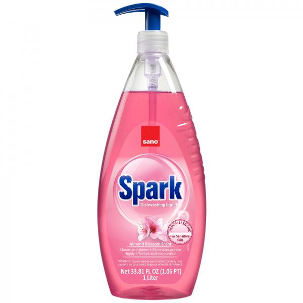 Sano Detergent pentru vase, 1 L, Spark Migdale 0