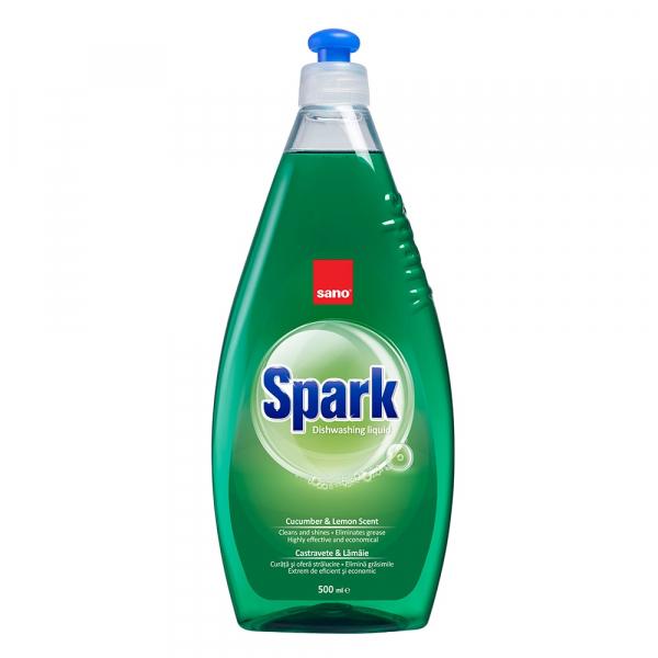 Sano Detergent pentru vase, 500 ml, Spark Castravete 0