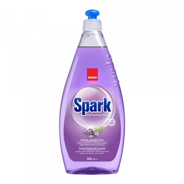 Sano Detergent pentru vase, 500 ml, Spark Lavanda 0