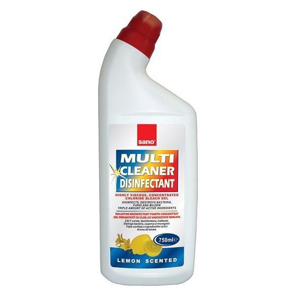 Sano Solutie multisuprafete cu clor, 750 ml, Multi Cleaner Dezinfectant 0