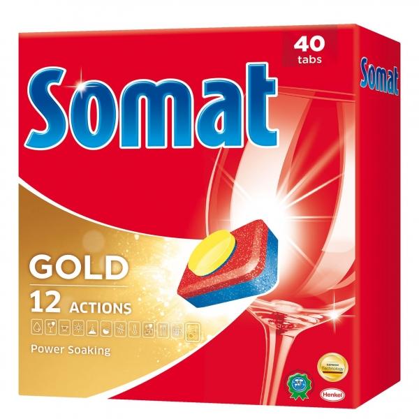 Somat Tablete pentru masina de spalat vase, 40 buc, Gold 0