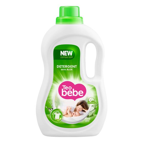 Teo Bebe Detergent lichid, 1.1 L, 20 spalari, Cotton Soft Aloe 0