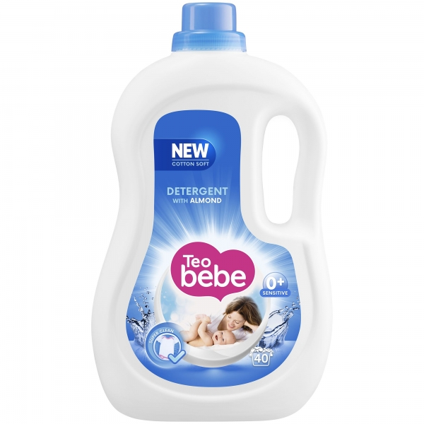 Teo Bebe Detergent lichid, 2.2 L, 40 spalari, Cotton Soft Almond 0
