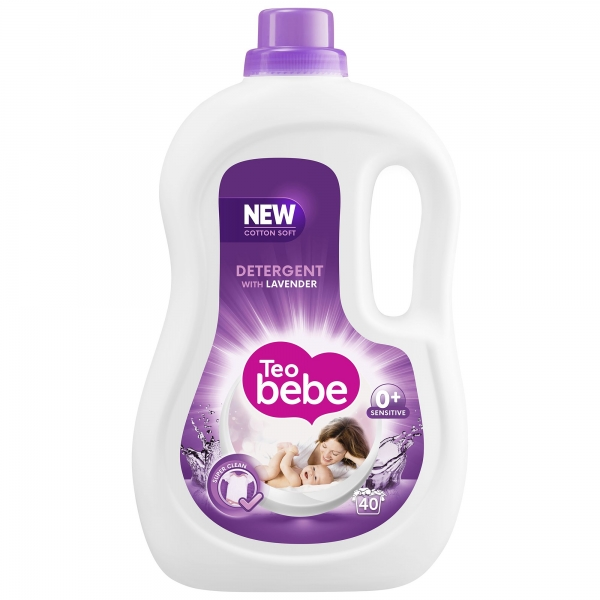Teo Bebe Detergent lichid, 2.2 L, 40 spalari, Cotton Soft Lavender 0