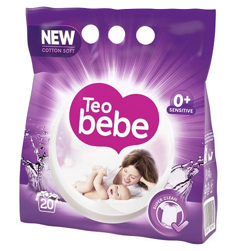 Teo Bebe Detergent pudra, 1.5 kg, 20 spalari, Cotton Soft Lavender 0