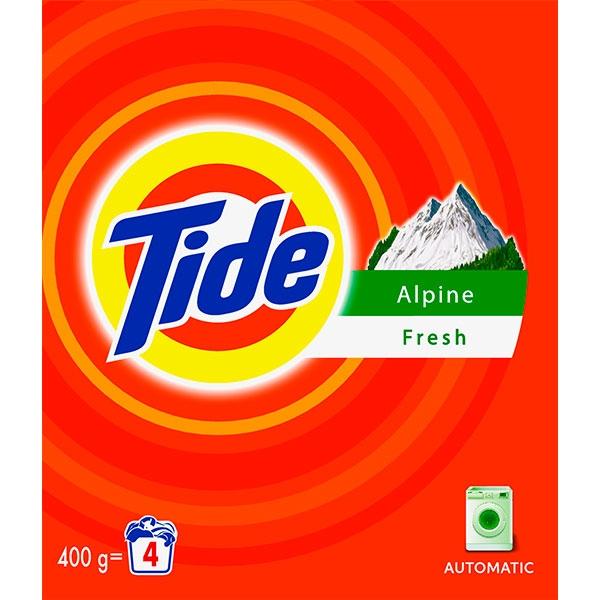 Tide Detergent automat, 400 g, 4 spalari, Alpine Fresh 0