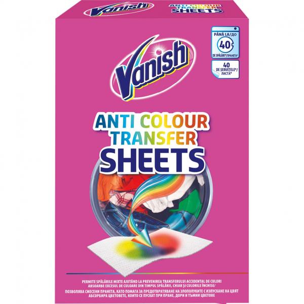 Vanish Servetele anti-transfer de culoare, 40 buc 0