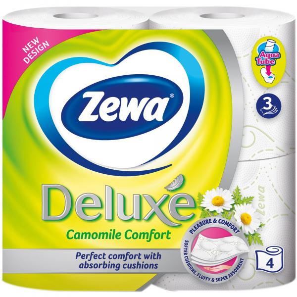 Zewa Camomile Comfort Hartie igienica, 3 straturi, 4 role 0