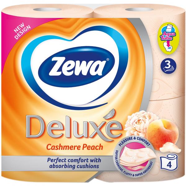 Zewa Cashmere Peach Hartie igienica, 3 straturi, 4 role 0