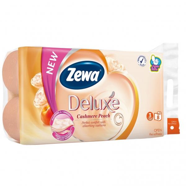 Zewa Cashmere Peach Hartie igienica, 3 straturi, 8 role 0