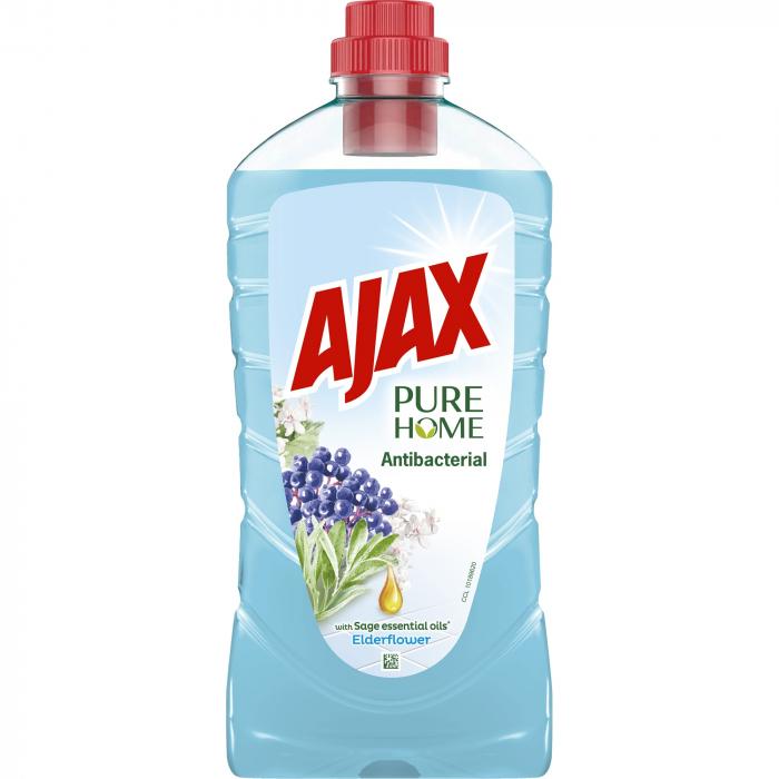 Ajax Detergent Pardoseli, 1L, Antibacterial Elderflower 0