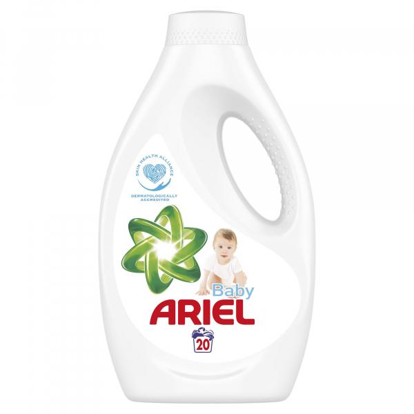 Ariel Detergent lichid, 1.1L, 20 spalari, Baby 0