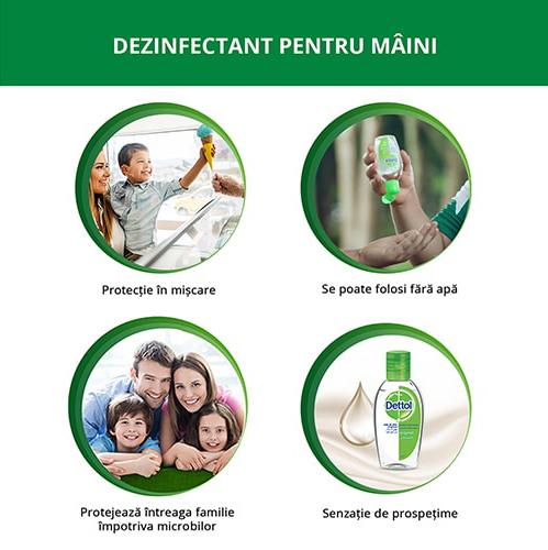 Dettol Dezinfectant pentru maini, gel, 50 ml 1