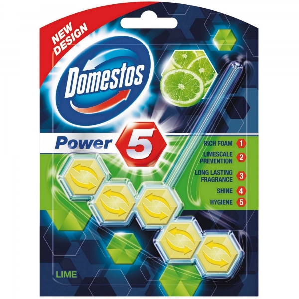 Domestos Odorizant WC cu bile, 55 g, Power 5 Lime 0