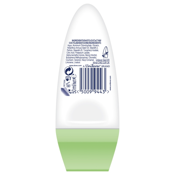 Dove Deodorant Roll-on, Femei, 50 ml, Cucumber and Green Tea 1