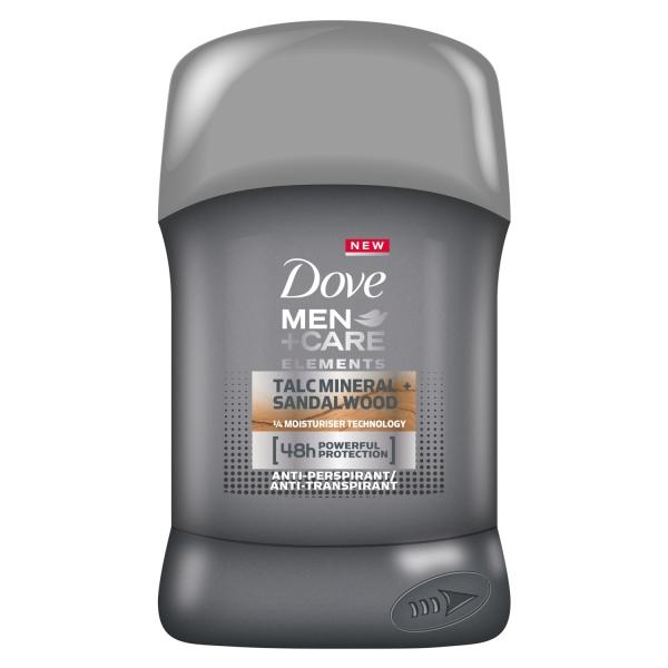 Dove Deodorant stick, Barbati, 50 ml, Men Care Elements Talc Mineral Sandalwood 0
