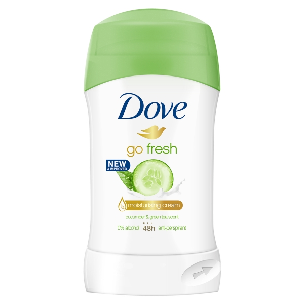 Dove Deodorant stick, Femei, 40 ml, Go Fresh Cucumber & Green Tea 0