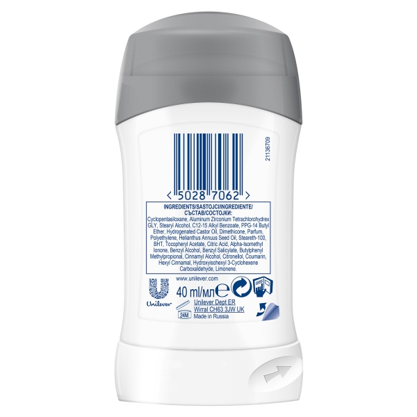 Dove Deodorant stick, Femei, 40 ml, Invisible Dry 1