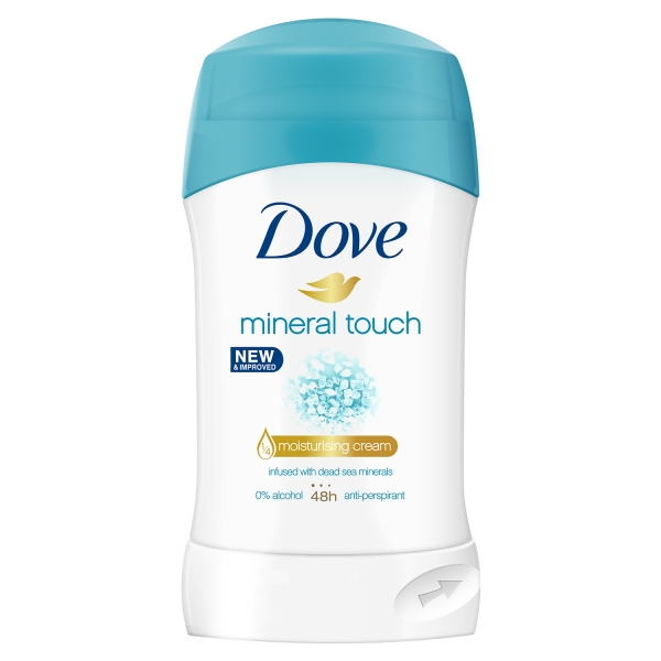 Dove Deodorant stick, Femei, 40 ml, Mineral Touch 0