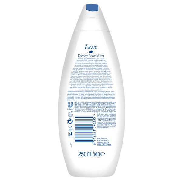 Dove Gel de dus, 250 ml, Deeply Nourishing 1