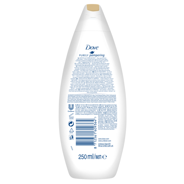 Dove Gel de dus, 250 ml, Purely Pampering Shea Butter with Warm Vanilla 1