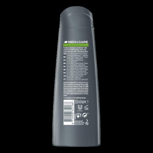 Dove Sampon, Barbati, 250 ml, Men+Care, Fresh Clean 1
