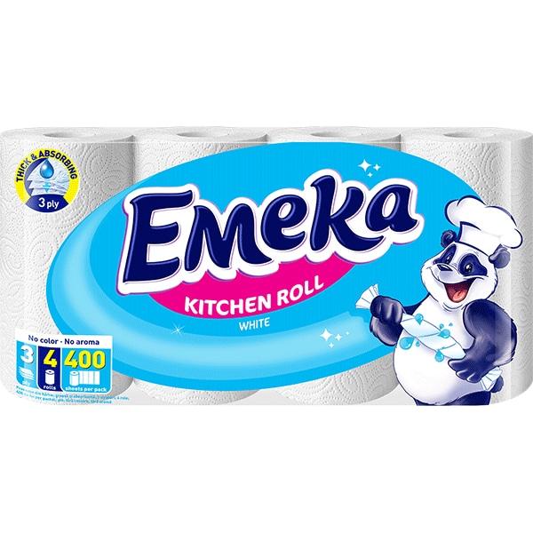 Emeka White Prosop hartie, 4 role 0