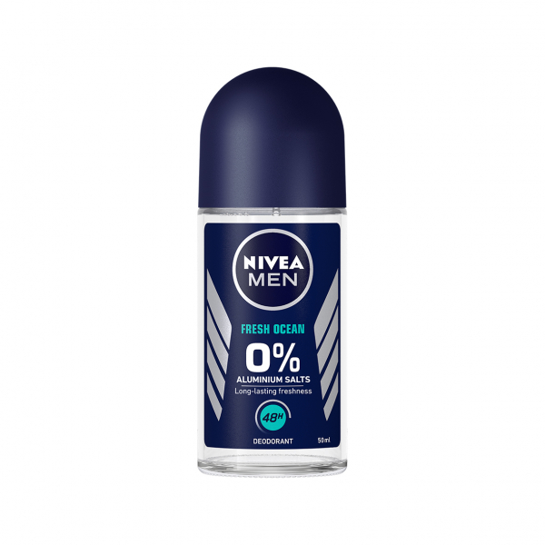 Nivea Deodorant Roll-on, Barbati, 50 ml, Fresh Ocean - 0 percent Aluminium Salts 0