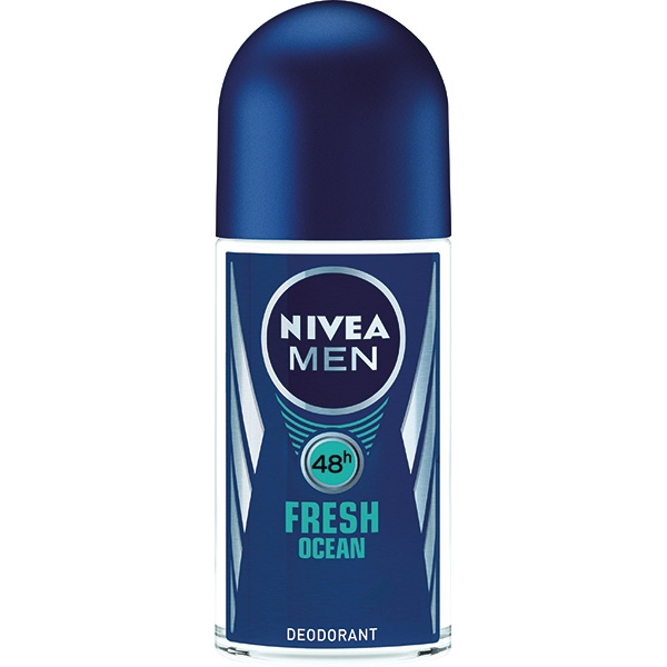 Nivea Deodorant Roll-on, Barbati, 50 ml, Fresh Ocean 0