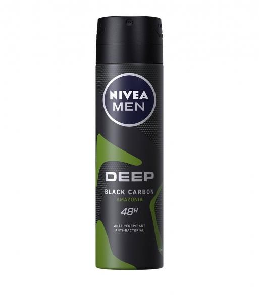 Nivea Deodorant spray, Barbati, 150 ml, Deep Black Carbon Amazonia 0